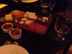 Cheese, meat, piccalilli & chilli jam.