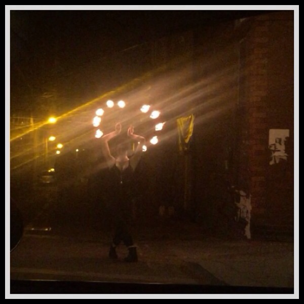 Fire dancer, Baltic Triangle.